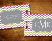 Cheery Chevron Personalized Bag/Luggage Tag