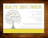 Family Tree Baby Shower Invitation - set of 20