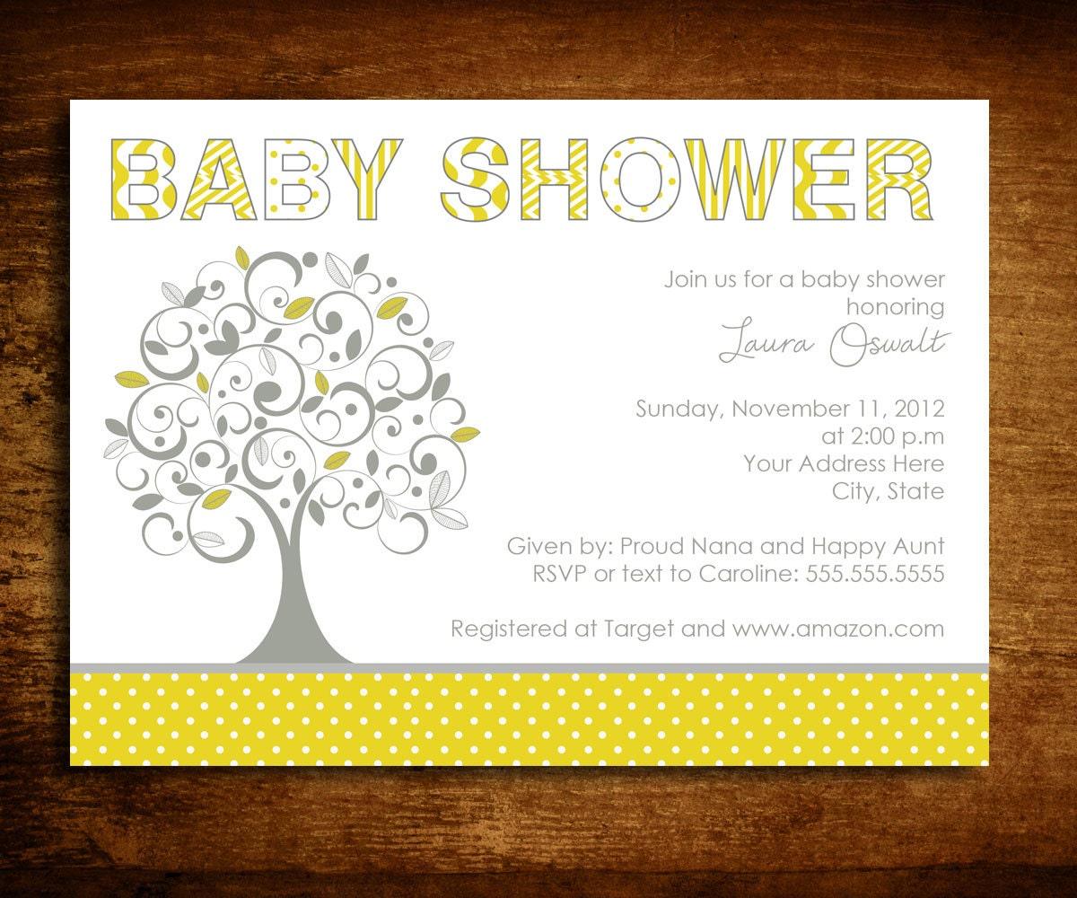 Family Baby Shower Invitations