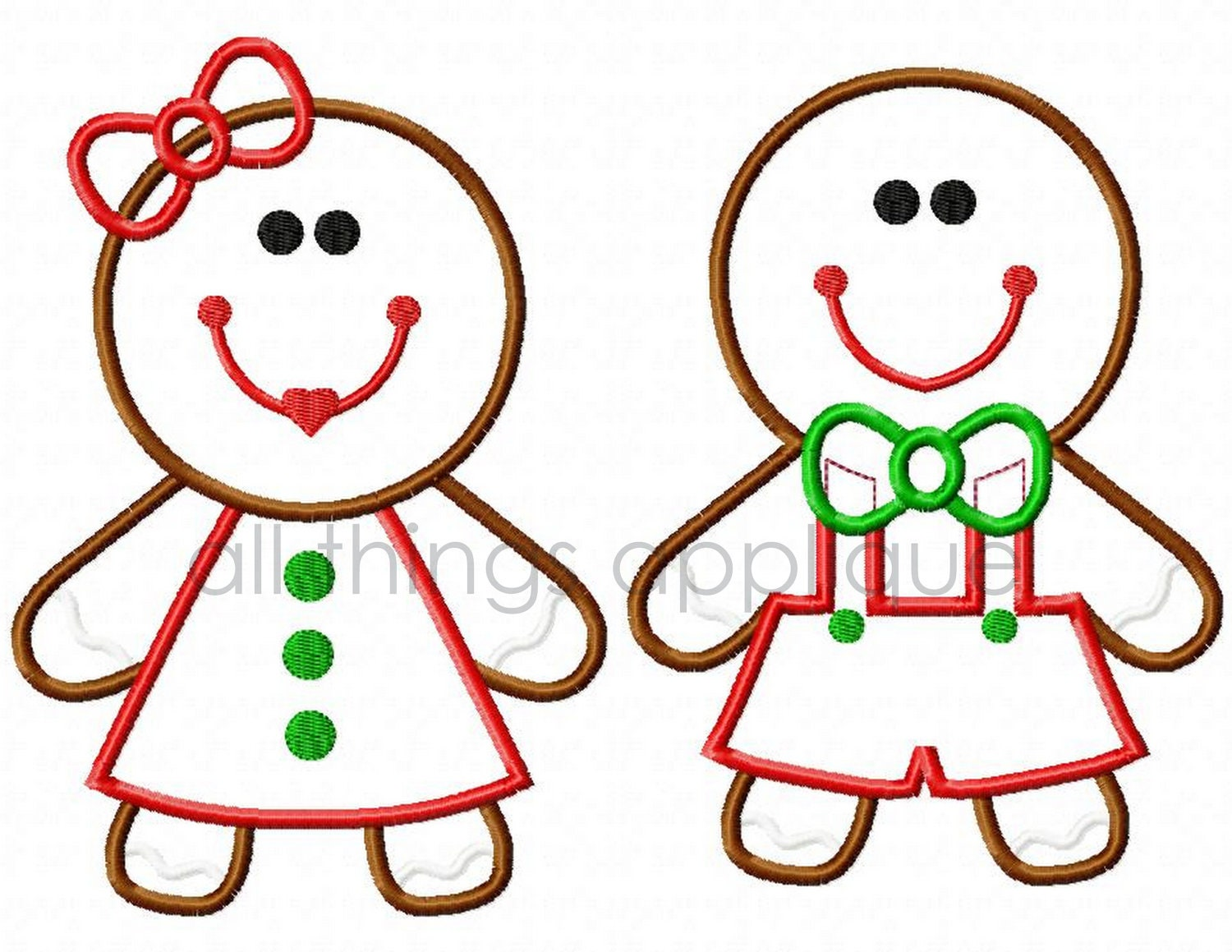 Gingerbread Boy And Girl Clipart Gingerbread boy and girl