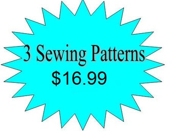 3 Girls Dress Sewing Pattern- Any 3 Patterns in my Shop for 16.99- Offer ends soon