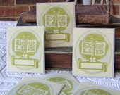 PERSONALIZED Bookplate Stickers- Vintage Inspired- Hedgehog with Book