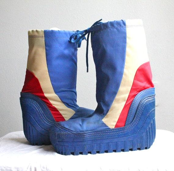 Vintage 70 S 80 S Womens Moon Boots Sz 7 8