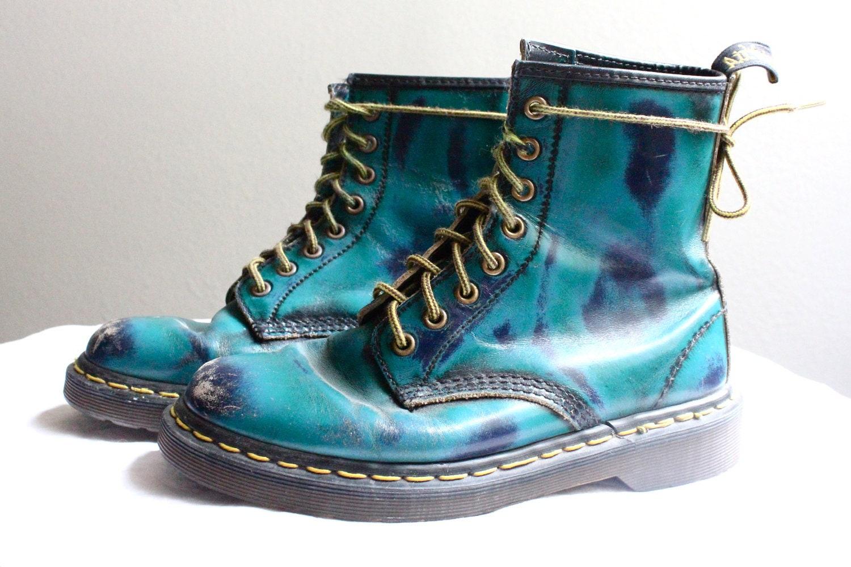 vintage rare turquoise doc marten boots. Black Bedroom Furniture Sets. Home Design Ideas