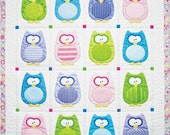Baby Quilt Pattern, The Hoots, by Amy Bradley Designs, Nursery Decor, Wall Hanging