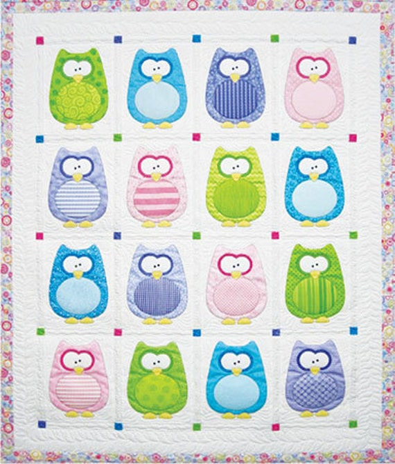 Baby Quilt Pattern The Hoots by Amy Bradley by GabbysQuiltsNSupply