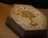 RESERVED LISTING for  Davina Armstrong-Cruz -Hexagon Gondor Pyrography-