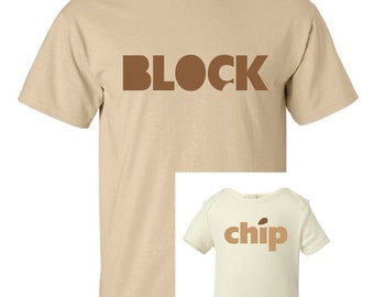 Chip Off the Old Block Father Child Combo - Chocolate and Gold