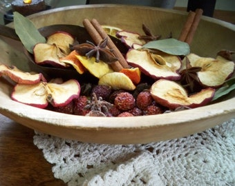 MONTANA HOMESTEAD potpourri fixins handmade Farmhouse kitchen cinnamon dried apples oranges fruit slices