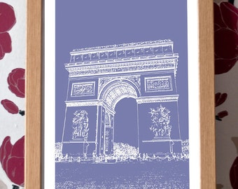 Arc de Triomphe Poster – Paris Icons Custom Colour A3 Travel Print
