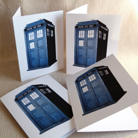 Doctor Who Tardis Greeting Card Set - Set of 4 cards - 5-1/2 X 4-1/4