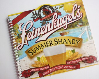 Beer Notebook Notepad WISCONSIN BEER Summer Shandy  Recycled Spiral Journal