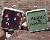 Vintage Christmas Reversible Soldered Charm