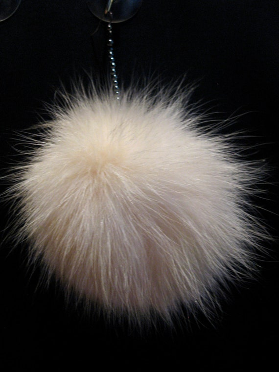 Unique, winter must have. Real fur earring, single earring. Big soft pompom