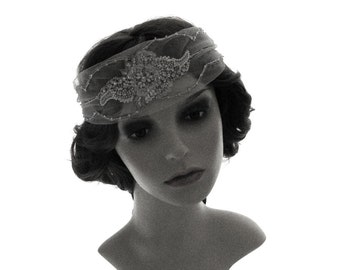 Bridal bandeau headband - Boardwalk