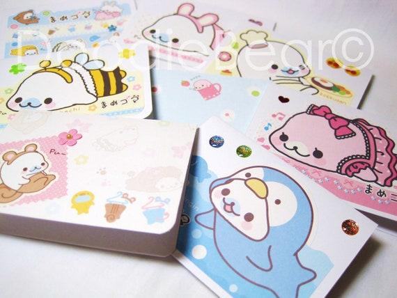 Mamegoma Kawaii Mini Cards Stationery Set