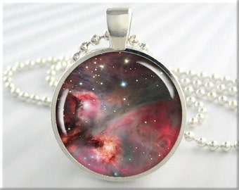 Orion Nebula Necklace Picture Pendant The Orion Space Nebula Resin Charm (407RS)