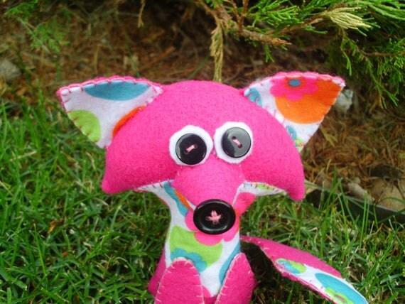 Countryside Softie Fox Plush Plusie Soft Art Doll Stuffed Animal Woodland Fox Kit Cute