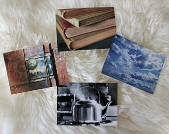Photo Postcard 5 Pack - choose 5 out of 8 images - Nature Photos, History Photos, Black and White