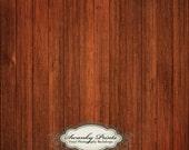 2ft x 2ft Vinyl Photography Backdrop / Dark Red Wood