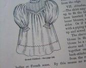 Antique 1900 Sewing Book - Needlework & Cutting Out by Agnes Walker Knickerbocker Lingerie Patterns