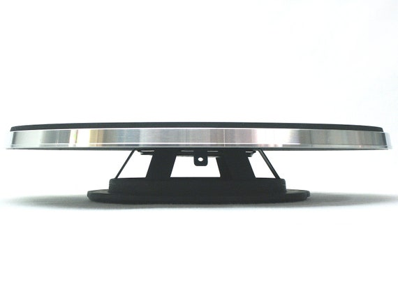 Vintage turntable low profile cake pedestal iv from by
