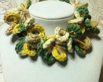 Flower Loop Handmade Crochet Necklace