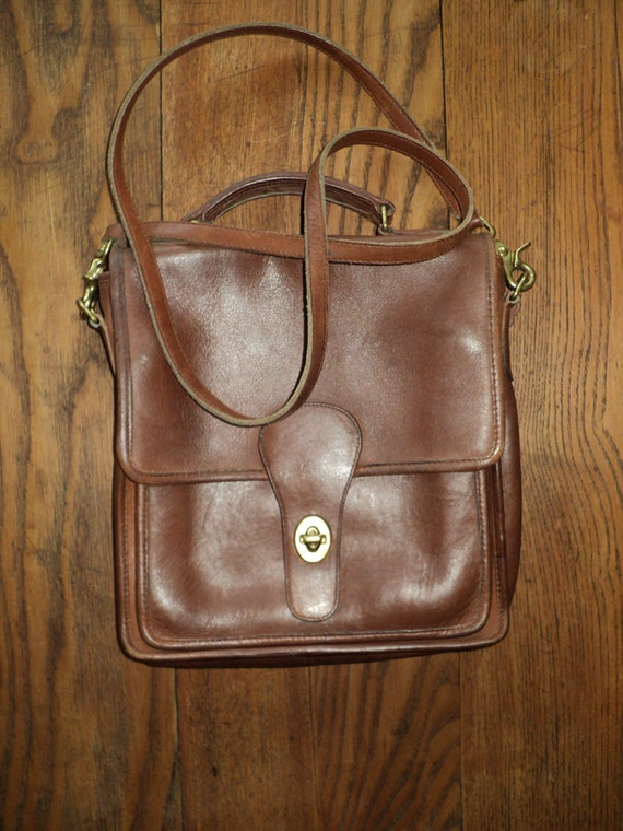 Vintage COACH BROWN LEATHER Handbag or Shoulder Bag