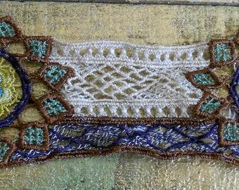 Multi Colored Floral Crocheted Trim