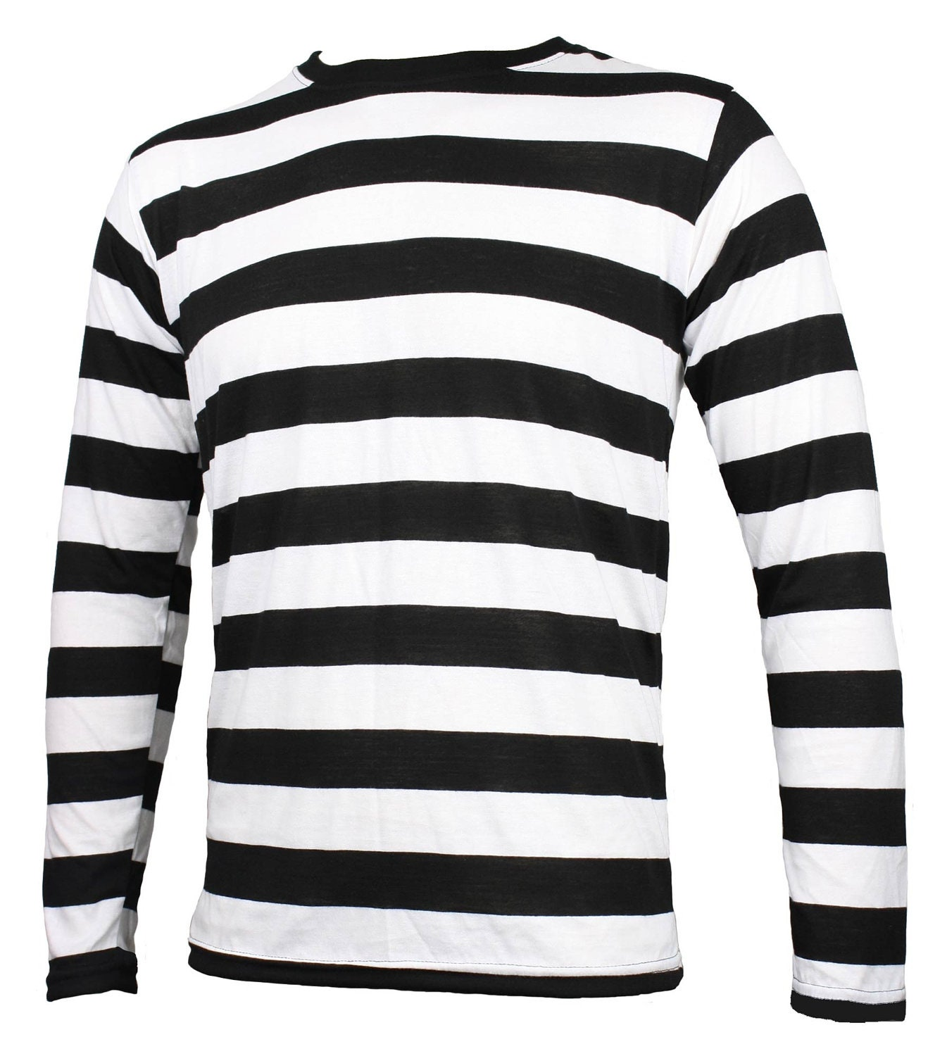 Men 39 s long sleeve black white striped shirt by skirtstar for Black and white striped long sleeve shirt women