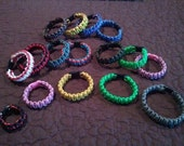 550 Paracord Survival Bracelets - Made to Order by Disabled US Army Veteran / Sizes Toddler - Youth - Adult