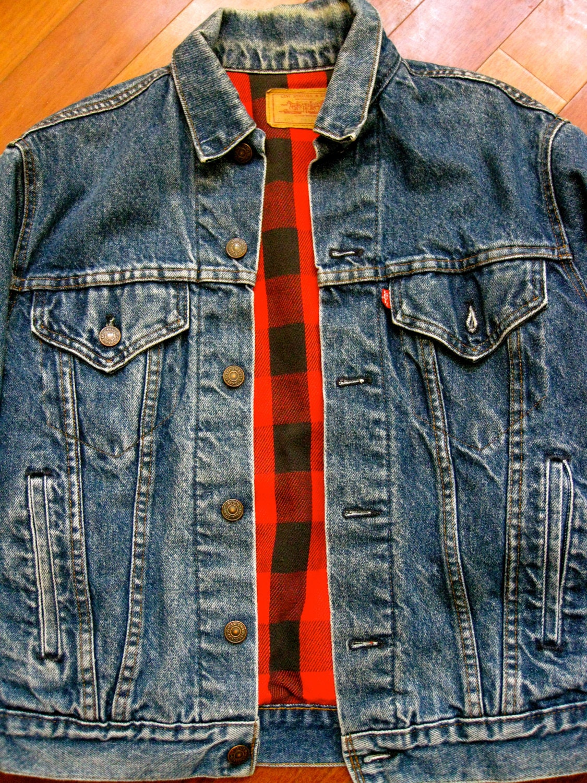 Vintage Levi's Flannel Lined Denim Jacket Made in USA