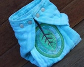 FIG LEAF Snapon Toddler Hand Dyed Prefold Diaper with Snaps
