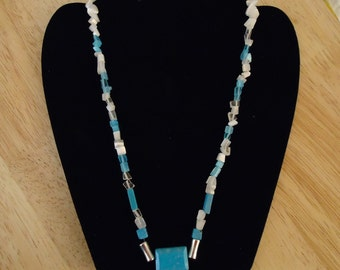Turquoise and Cats Eye Necklace