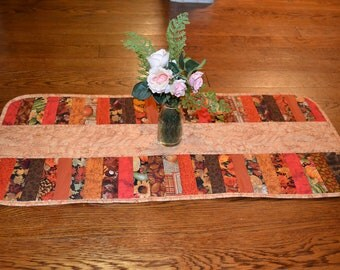 Quilted Table Runner Autumn Decor Fall Color Holiday Topper