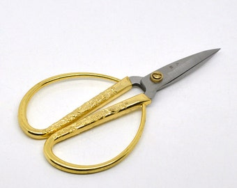 "Scissors Gold Dragon Phoenix Wide Handle Thread Sharp Scissor's 5"" - Ships IMMEDIATELY from California - T20"