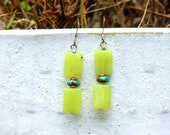 Olive Jade and Turquoise Earrings