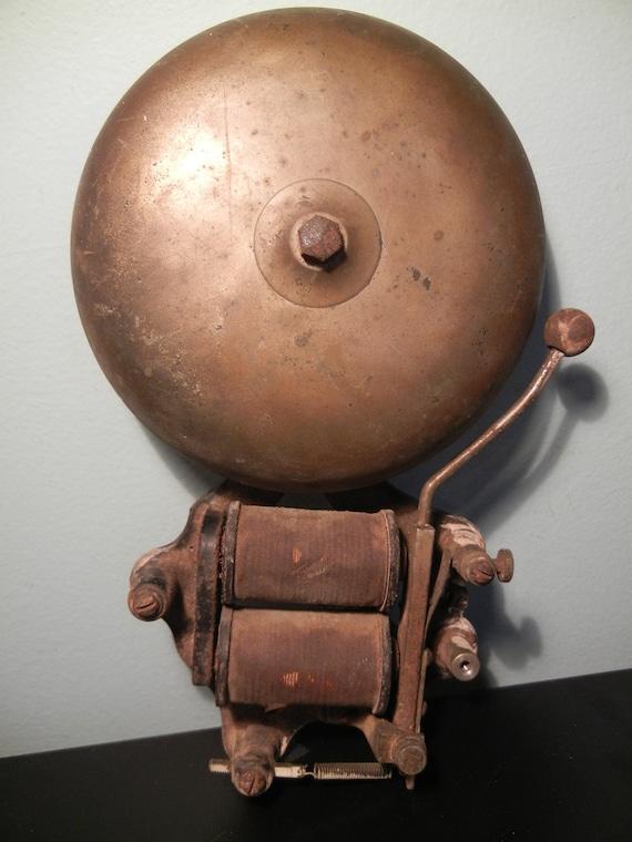 Antique Brass And Cast Iron Fire Alarm Bell School Alarm Bell