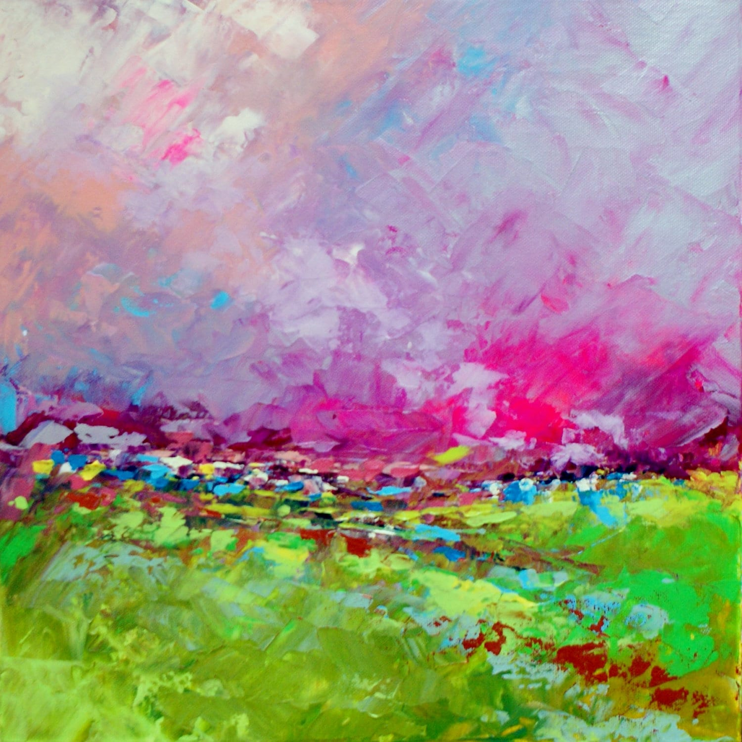 Abstract Landscape 'Remember Me' acrylic painting on