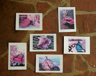 set of six watercolor postcards