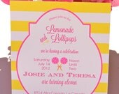 Printable Invitations- Lollipop and Lemonade Party by Bloom