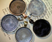 12 DIY necklace making Pendants Round 1 inch (25 mm)  Base for glass, Mosaics or altered art - Jewelry making