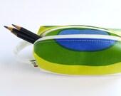 Marimekko Pencil Case - Zip Pouch - Small - Blue Green Yellow White