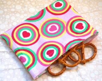 Rainbow Hearts Snack Bag