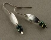Boho Earrings Small Drop Earrings Silver Hammered Earrings Small Dangle Earrings Everyday Earrings Christmas Sale