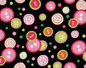 Buttons, Notions, Button Fabric, Fashion Fabric, Sew Fine by Blank Quilting, Clothing Fabric, 00955