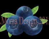 Kitchen and Dining Room Art - Blueberry Trio