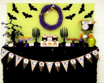 HALLOWEEN Party - Halloween Printable - Instant Download - PRINTABLE Party Package - Halloween Invitation