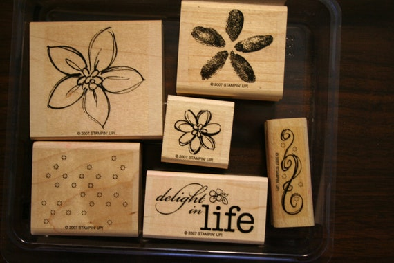 Stampin' Up retired -Delight in Life  - Stamp Set