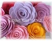 Felt Flower Tutorial  Wool Felt Rose Tutorial-ebook How to PDF-epattern-Flower Pattern-ebook 001